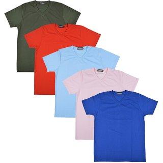 Pintapple MenS Casual V-Neck T-Shirt Pack Of 5