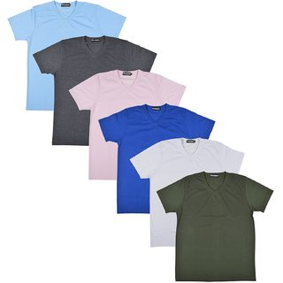 Pintapple MenS Casual V-Neck T-Shirt Pack Of 6