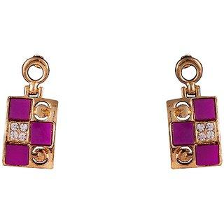 R18Jewels-FashionU Sensuous Sparkling Lavender Metal Drop Earring