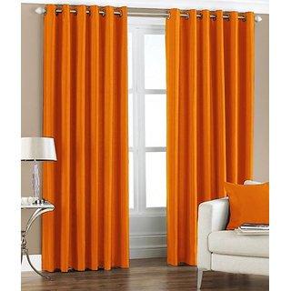 S Trendz Plain Window Curtain Set Of 2