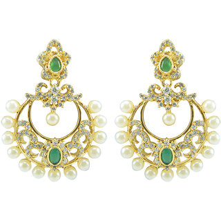 Oroca Arts -Stunning Desginer Earings -Gold Plated with Color Stones emznatear12