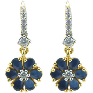 Oroca Arts -Stunning Desginer Earings -Gold Plated with Color Stones emznatear13