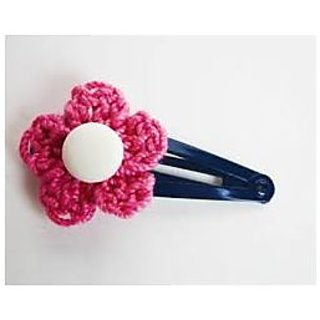 Generic Elastic Baby Toddler Girls Crochet Headband Rhinestone Peony Flower Hair Clip Headwear