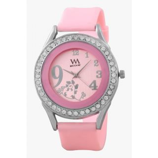 Watch Me Pink Leather analogue watch for Women WMAL-097-PK