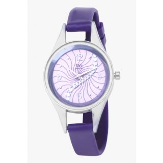 Watch Me Purple Leather analogue watch for Women WMAL-098-PR