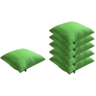 Lushomes Bright and Fluffy Green Cushions (Size 12x12, 6 pcs.)
