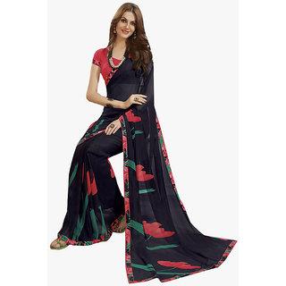 Subhash Daily Wear Blue Color Georgette and Chiffon Saree/Sari