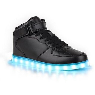 Black Led Shoe With Sky Blueled Light