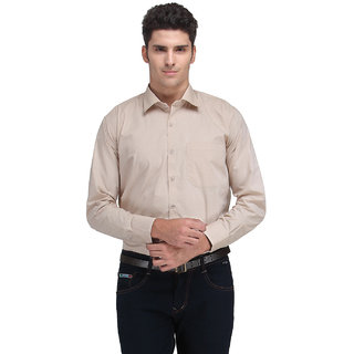 Ausy Brown Formal Slim Fit Shirt
