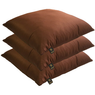 Lushomes Bright and Fluffy Chocolate Cushions (Size 16x16, 3 pcs.)