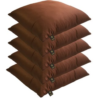 Lushomes Bright and Fluffy Chocolate Cushions (Size 16x16, 5 pcs.)