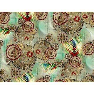 1 mtr Digital print pure georgette fabric