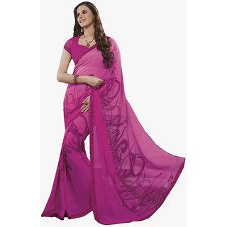 Subhash Daily Wear Magenta Color Georgette Saree/Sari