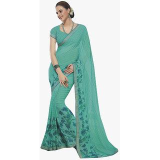 Subhash Daily Wear Teal Color Georgette Saree/Sari