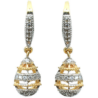 Waama Jewels Multi Cubic Zirconia Dangle  Drop Earring For Women Wedding Earring Official Jewellery