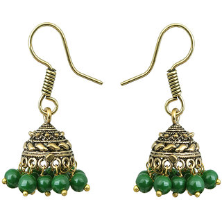Waama Jewels Green pearl Jhumki Earring for women and girl Party Wear Earring festival jewellery
