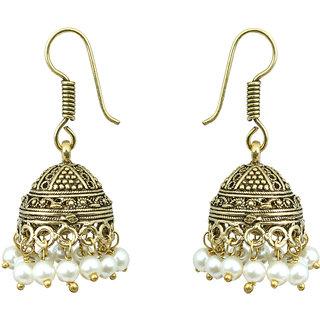 Waama Jewels white pearl Jhumki Earring for womens Office Wear Earring boho jewelry