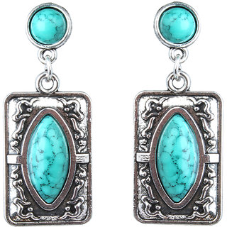 Waama Jewels Turquoise Dangle  Drop Earring for Girl Daily Wear Earring gifts for her
