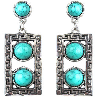 Waama Jewels Turquoise Dangle  Drop Earring for Girl Party Wear Earring hippie earrings