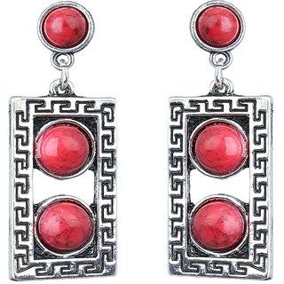 Waama Jewels Red Jasper Dangle  Drop Earring for Girl Festive Earring Gift For Wife