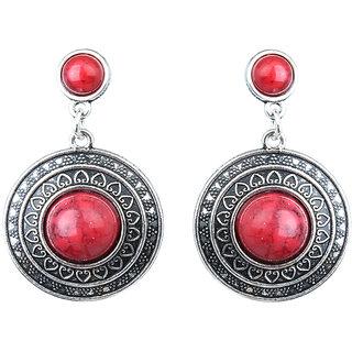 Waama Jewels Red Jasper Dangle  Drop Earring for Women Festive Earring Mothers Day Gift