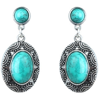 Waama Jewels Turquoise Dangle  Drop Earring for Women Office Wear Earring Official Earring