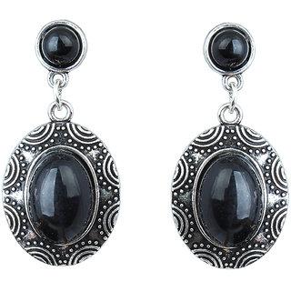 Waama Jewels Black Jasper Dangle  Drop Earring for Women Party Wear Earring festival jewellery