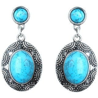 Waama Jewels Sky bLue  Turquoise Dangle  Drop Earring for Women Festive Earring ethnic jewellery