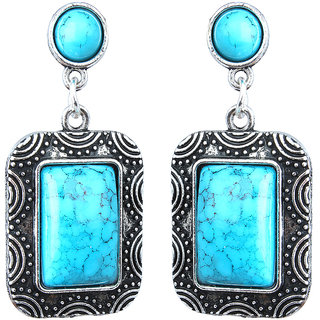 Waama Jewels Sky bLue  Turquoise Dangle  Drop Earring for Women Wedding Earring Gift For Girlfriend
