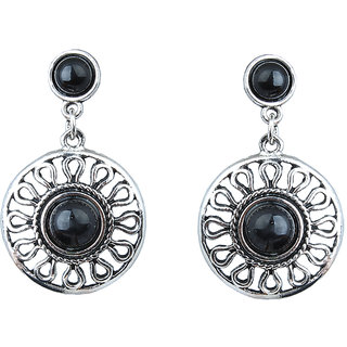 Waama Jewels Black Jasper Dangle  Drop Earring for Women Party Wear Earring Mothers Day Gift