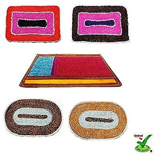 Online Quality Store Perfect Combo of 5 Door mats for different locations of a your house