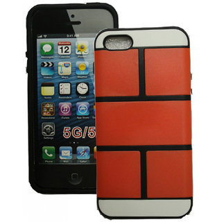 SCS Iphone 5 Supergrip back case (Orange)