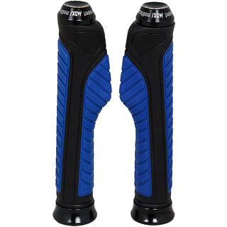 Capeshoppers  Blue Bike Handle Grip For Suzuki Gixxer 150