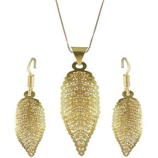 Rejewel 22K Gold Plated Delicate Filigiri Metal Pendant Golden Color For Women