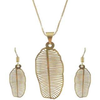 Rejewel 22K Gold Plated Delicate Filigiri Metal Pendant Golden Color For Women