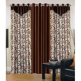 Elegance Polyester Eyelet Door Curtain Set OF 2
