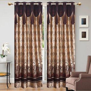 Elegance polyester Desginer Look Eyelet Door Curtain Set Of 2