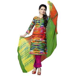 Minu Suits Cotton Unstiched Dress Material New Multi