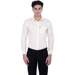 London Looks Formal White Poly-Cotton Shirt