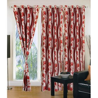 Elegance Polyester Eyelet Door Curtain Set OF 2