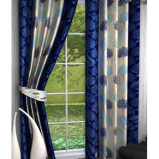 Elegance Polyester Door Curtain Set Of 2