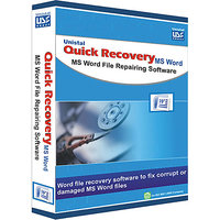 Microsoft Word Data Recovey Software -Quick Recovery FOR Microsoft Word (Personal Lic.) 1U/1 Yr