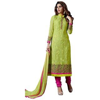 Khushi Trendz Georgette Green Se Stitched Salwar Suit