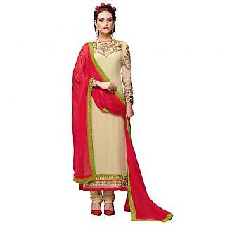 Khushi Trendz Georgette Beige Se Stitched Salwar Suit