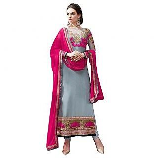 Khushi Trendz Georgette Grey Se Stitched Salwar Suit
