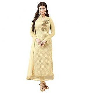 Khushi Trendz Net Georgette Gold Se Stitched Salwar Suit