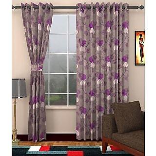 Elegance Polyester Door Curtain Set Of 2