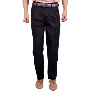 Studio Nexx Black Formal Cotton Mens trouser