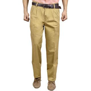 Studio Nexx Khaki formal cotton Mens trouser