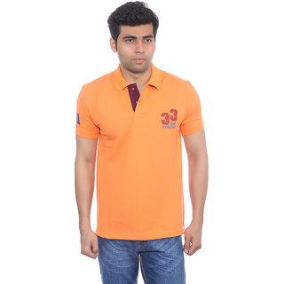 Studio Nexx Mens Orange Polo T-Shirt